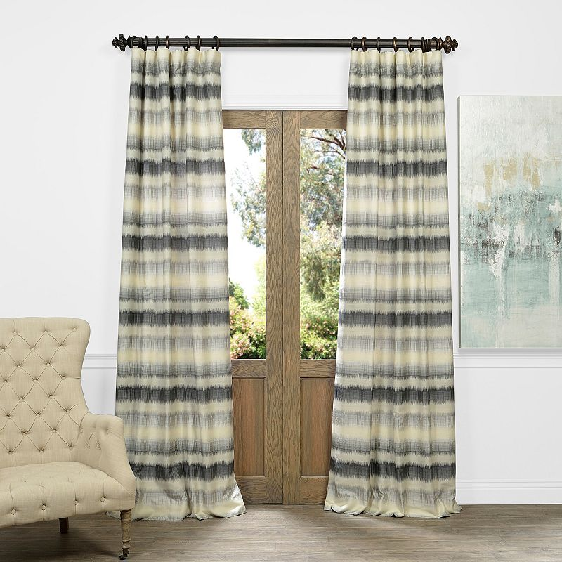EFF Surge Ombre Horizontal Striped Jacquard Faux Silk Curtain