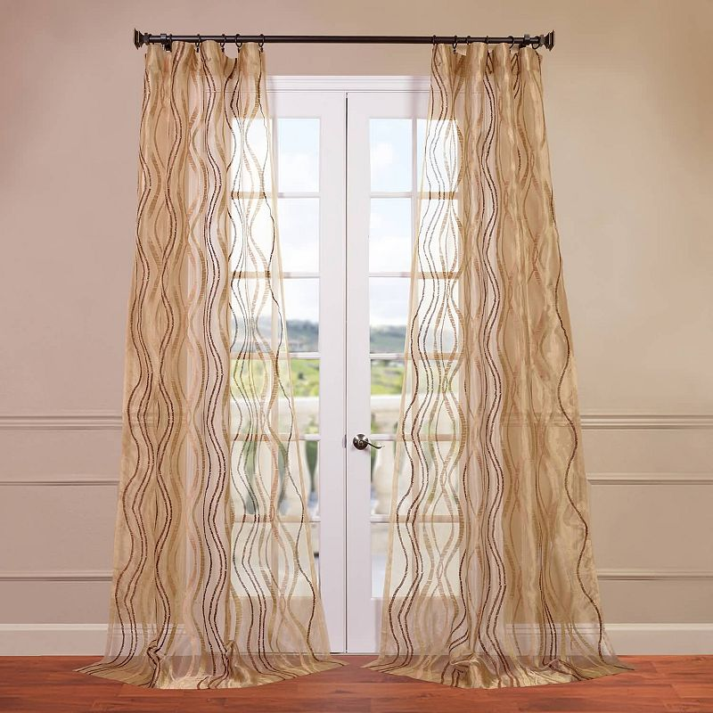 EFF Alegra Embroidered Sheer Curtain
