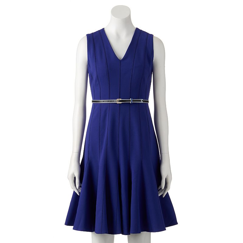 Women's Dana Buchman V-Neck Fit & Flare Dress