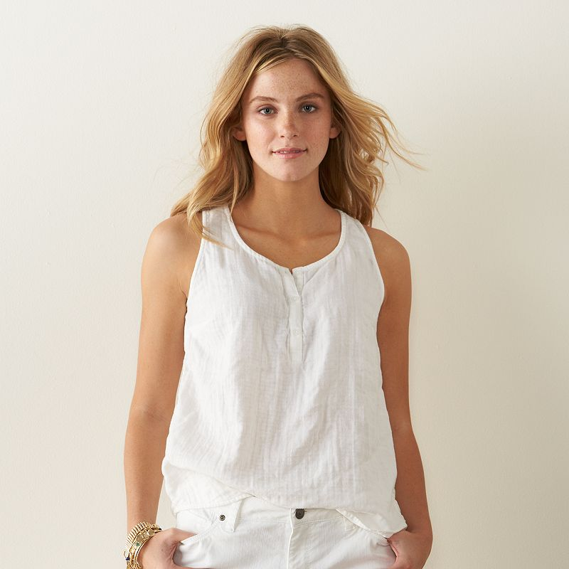 Women's SONOMA Goods for Life™ Destination Henley Tank