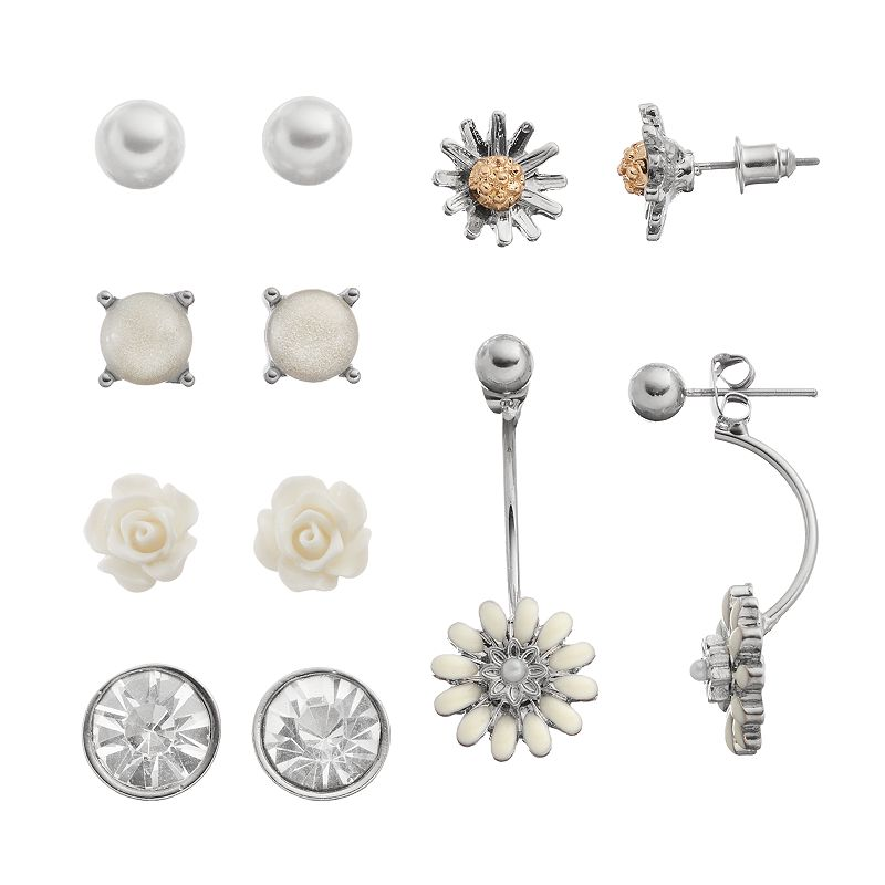 Mudd® Flower Earring Set