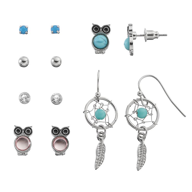 Mudd® Owl & Dream Catcher Earring Set