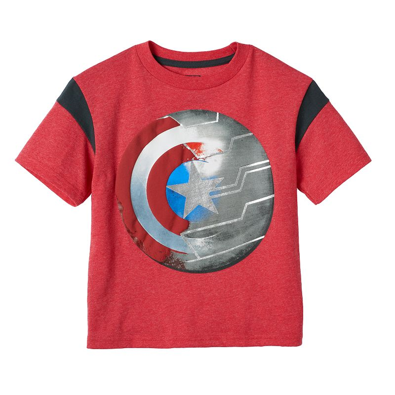 Boys 4-7 Marvel Captain America 75th Metal Shield Tee