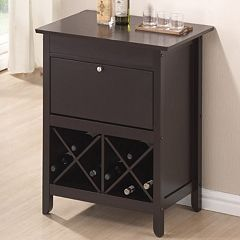 Baxton Studio Tuscany Dry Bar Wine Cabinet by