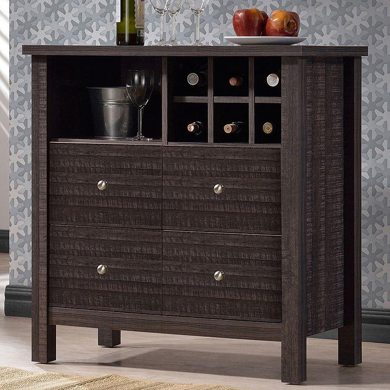 Baxton Studio Dakota Modern Wine Bar Cabinet