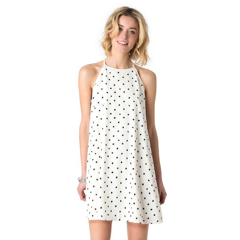 Women's Indication by ECI Polka-Dot Shift Dress