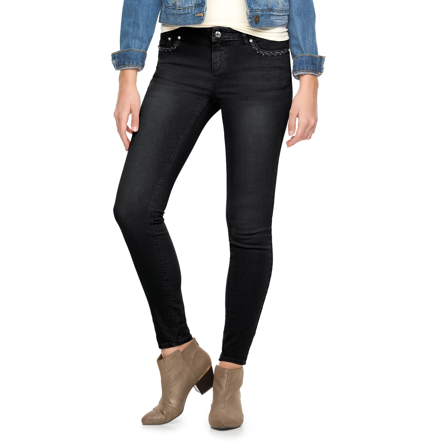 Juniors Candies? Studded Skinny Jeans
