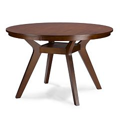 Baxton Studio Montreal Round Dining Table by