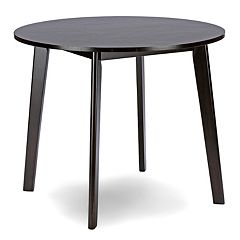 Baxton Studio Debbie Mid-Century Round Dining Table by