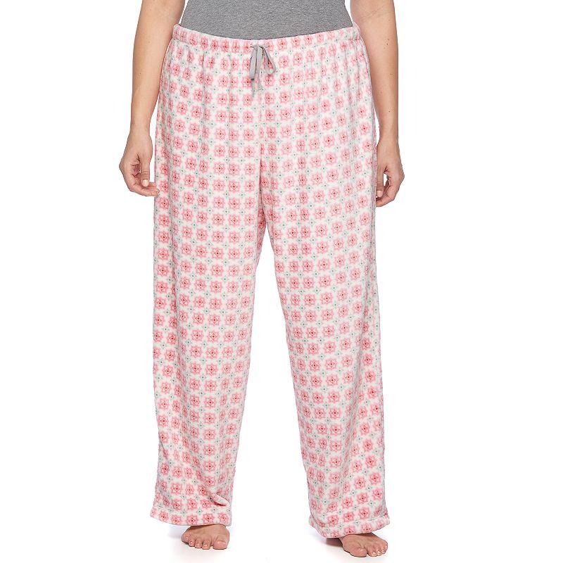 Plus Size Croft & Barrow® Pajamas: Wispy Clouds Plush Pajama Pants