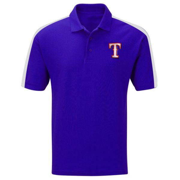 Big & Tall Majestic Texas Rangers Colorblock Polo