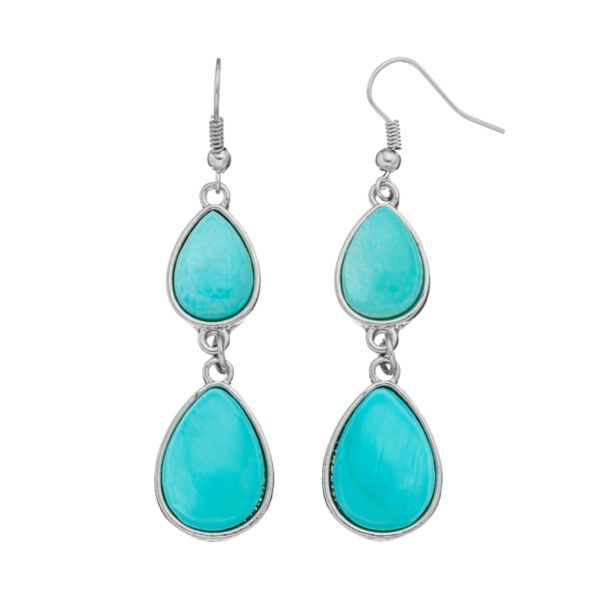 Mudd® Composite Shell Double Teardrop Earrings