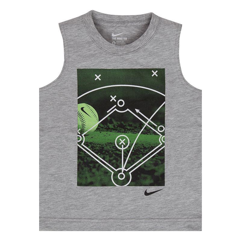 Boys 4-7 Nike Photoreal Baseball Graphic Muscle Tee