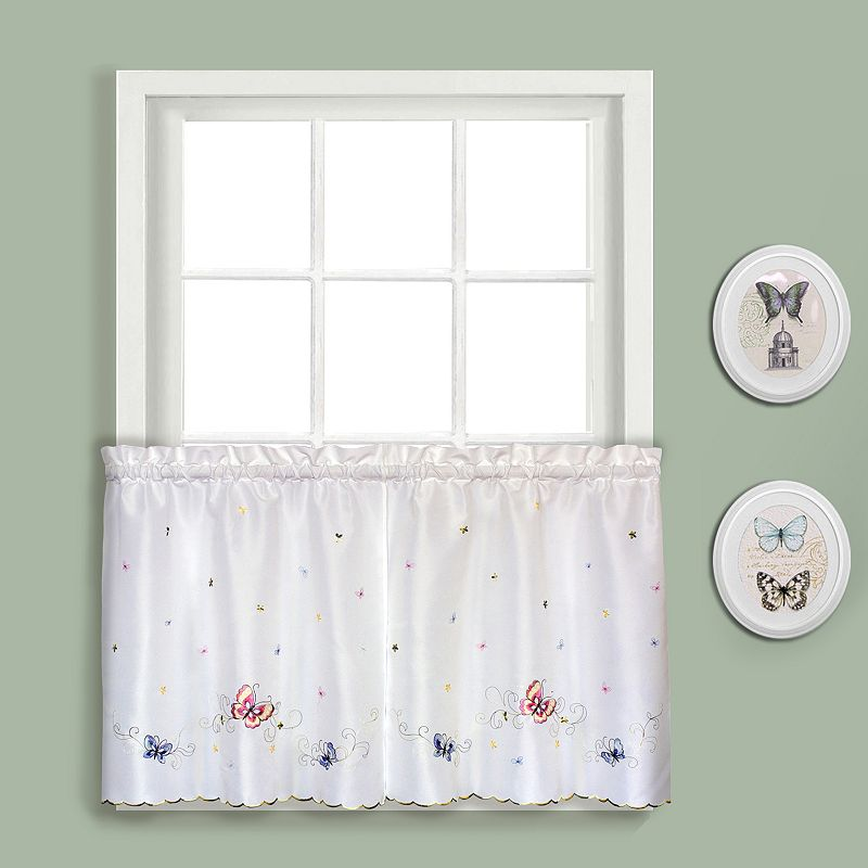 United Curtain Co. Butterfly Tier Curtains