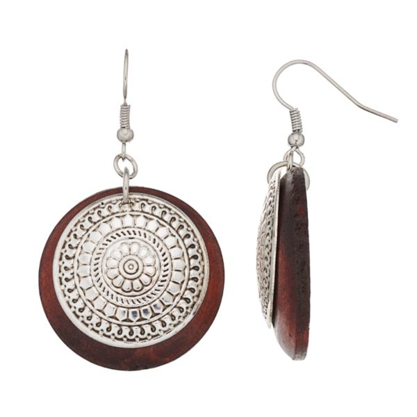 Mudd® Double Disc Drop Earrings