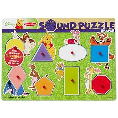 Disney's Winnie The Pooh Shapes Wooden Sound Puzzle by Melissa & Doug by