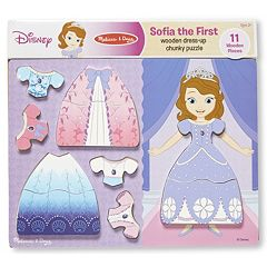 Disney's Sofia the First Wooden Dress-Up Chunky Puzzle by Melissa & Doug by