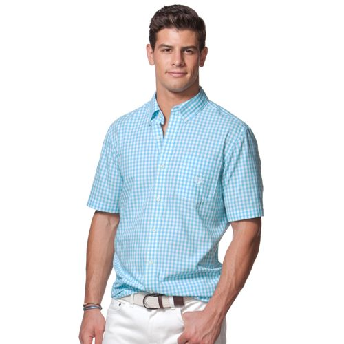 Men's Chaps Classic-Fit Gingham Easy Care Button-Down Shirt
