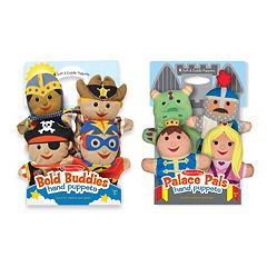 Melissa & Doug Bold Buddies & Palace Pals Hand Puppet Adventure Set by