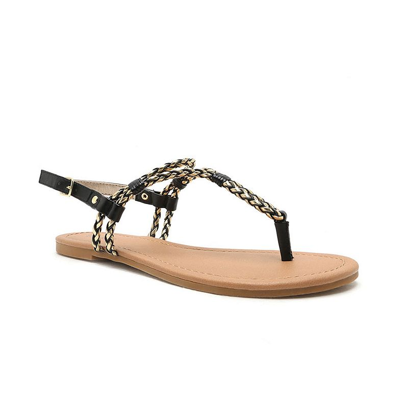 Qupid Archer Women's Braided Sandals