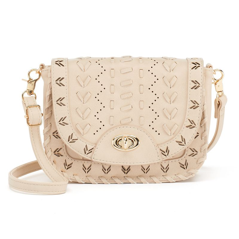 Under One Sky Laced & Perforated Mini Crossbody Bag