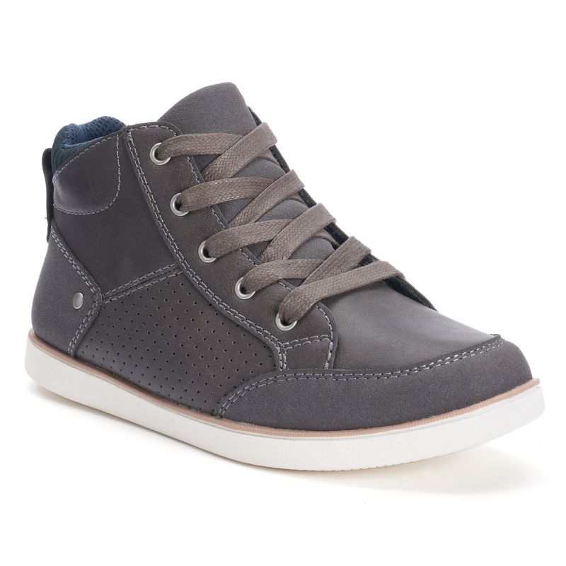 SONOMA Goods for Life Boys' Sport Bottom High-Top Shoes, Boy's, Size: 6, Grey