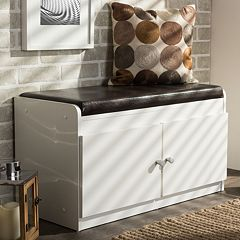 Baxton Studio Margaret Shoe Cabinet Bench by