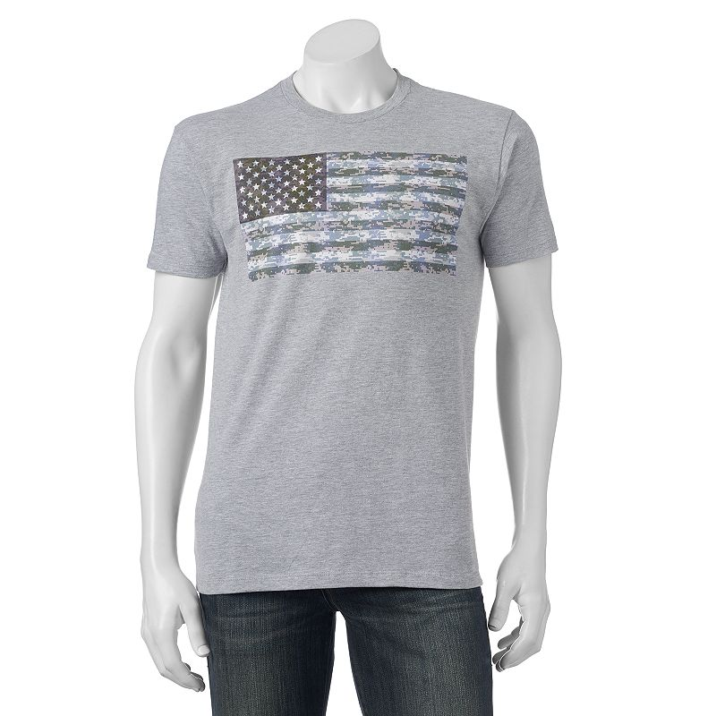 Men's Camo American Flag Tee