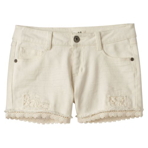Girls 7-16 & Plus Size Mudd® Crochet Shorts