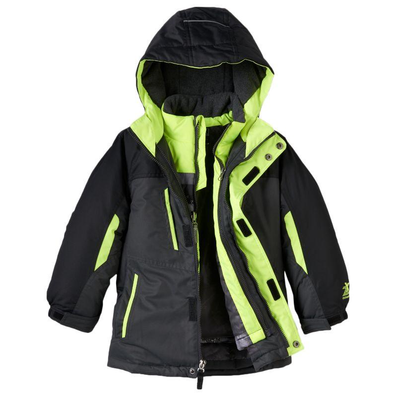 Boys 4-7 ZeroXposur 3-in-1 Heavyweight Hooded Systems Jacket, Boy's, Size: Small, Med Blue