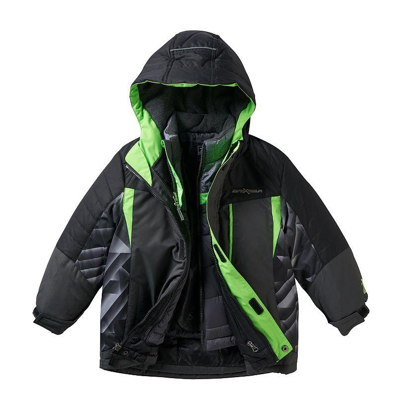 Boys 4-7 ZeroXposur 3-in-1 Hooded Heavyweight Systems Jacket, Boy's, Size: Small, Med Blue
