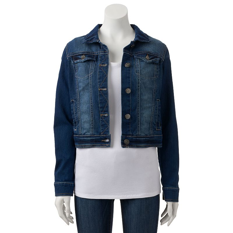 Juniors' Wallflower Destructed Jean Jacket