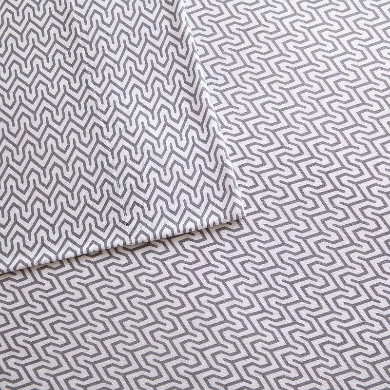 Intelligent Design Cotton Blend Jersey Knit Chevron Sheet Set