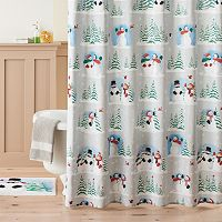 St. Nicholas Square® Scenic Snowman Shower Curtain