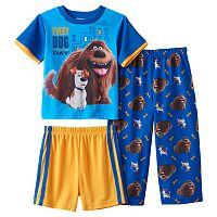 Toddler Boy The Secret Life of Pets Duke & Max 3-pc. Pajama Set