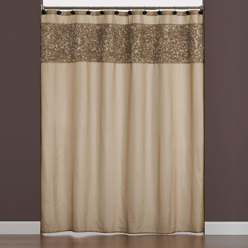 Saturday Knight, Ltd. Ruffle Border Shower Curtain