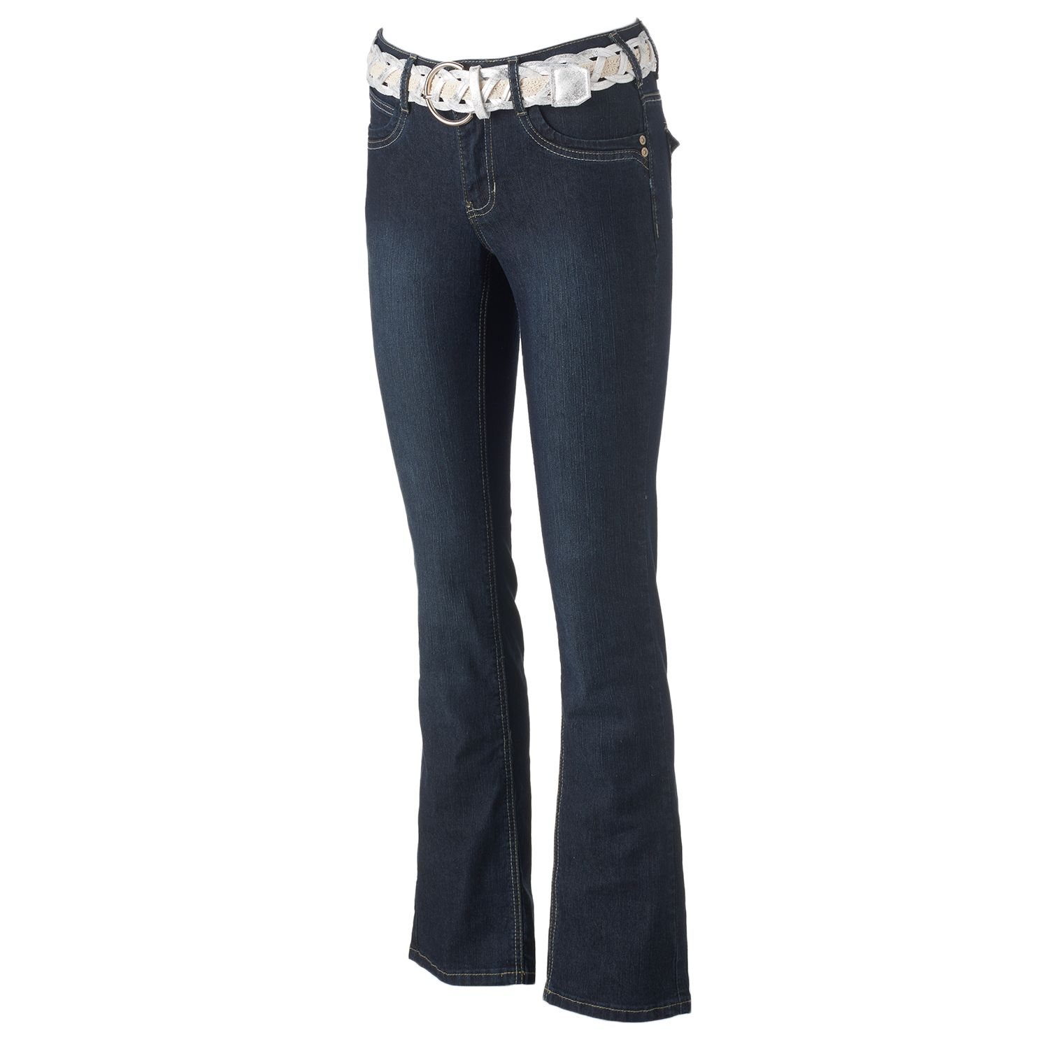 Womens Angels Faded Bootcut Jeans