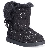 2-Pairs of Jumping Beans Toddler Girls Sparkly Pom-Pom Boots