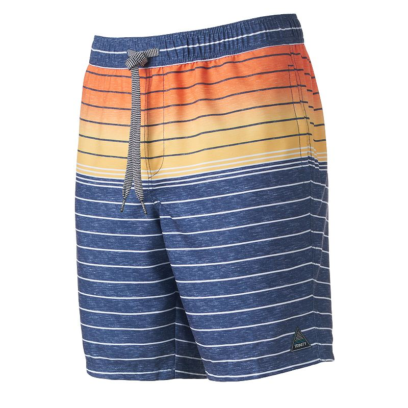 Men's Trinity Collective Modern-Fit Striped & Colorblock Board Shorts