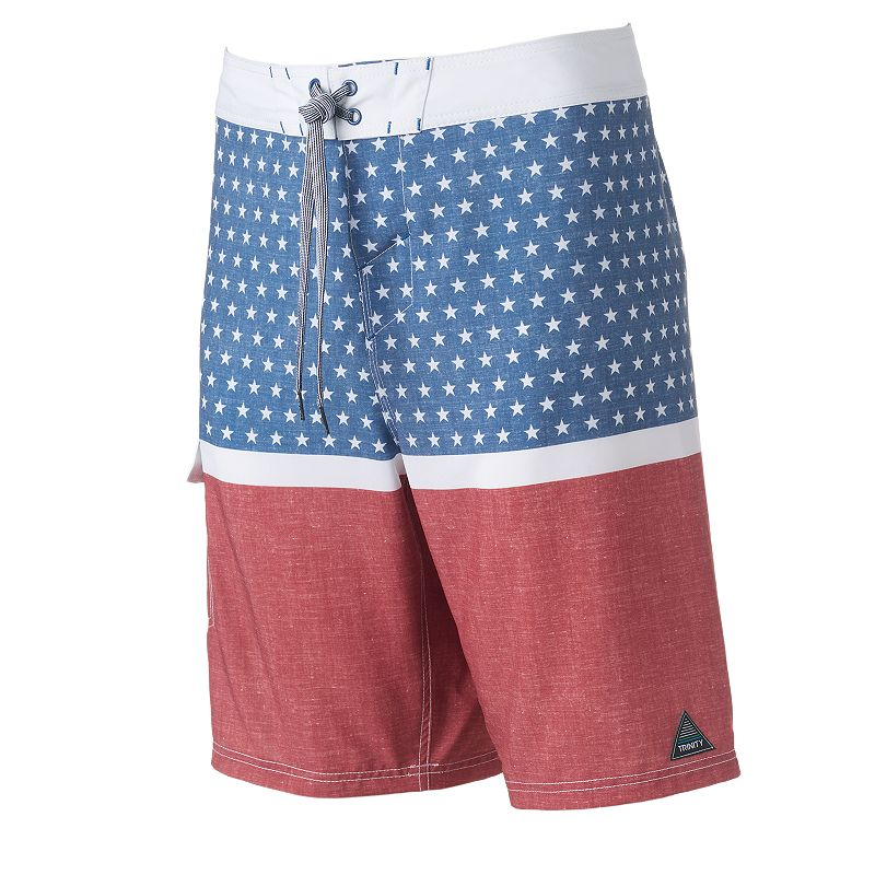Men's Trinity Collective Modern-Fit Stars & Stripes Cargo Board Shorts