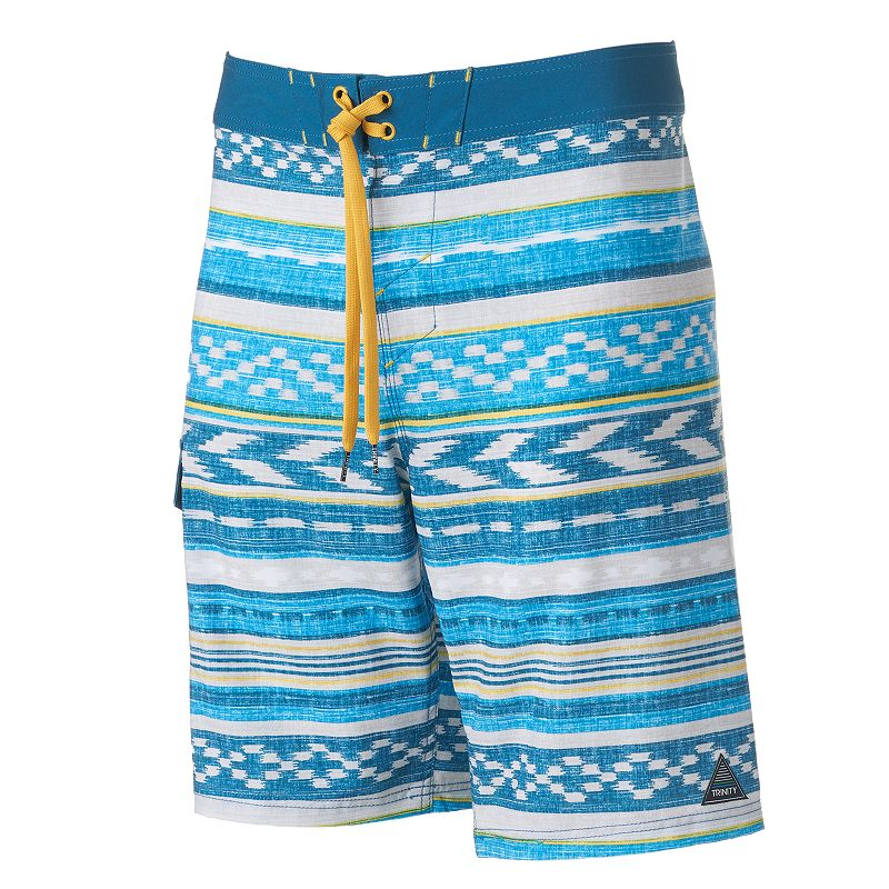 Men's Trinity Collective Modern-Fit Coastal Striped Cargo Board Shorts