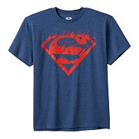 Boys 8-20 DC Comics Superman Scratched Logo Tee