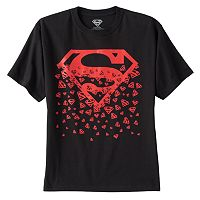 Boys 8-20 DC Comics Superman Falling Logos Tee