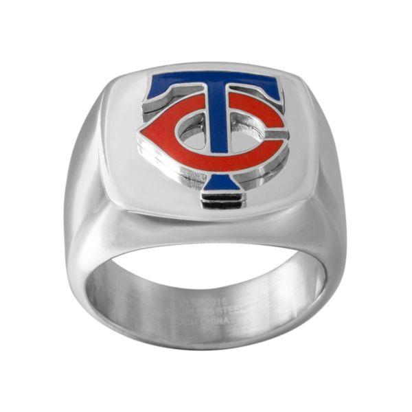 Men's Stainless Steel Minnesota Twins Ring