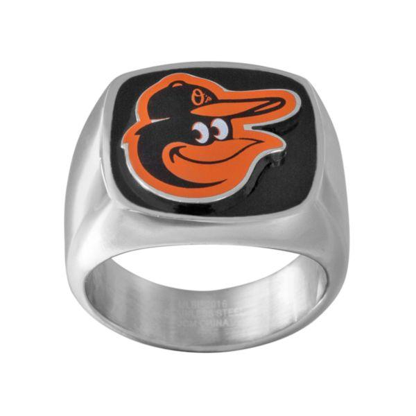 Men's Stainless Steel Baltimore Orioles Ring