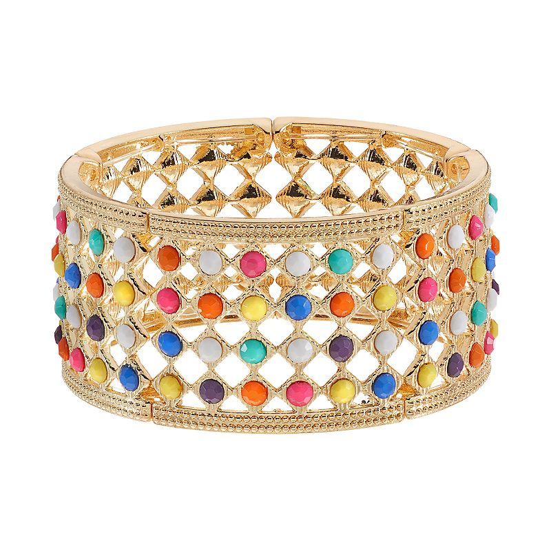 Multi Color Lattice Stretch Bracelet