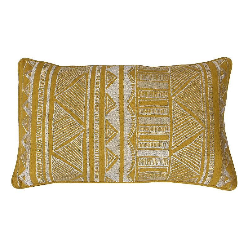 Thro by Marlo Lorenz Tracey Embroidered Tribal Throw Pillow