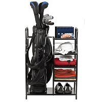 JEF World of Golf Golf Bag & Accessories Metal Shelf Organizer