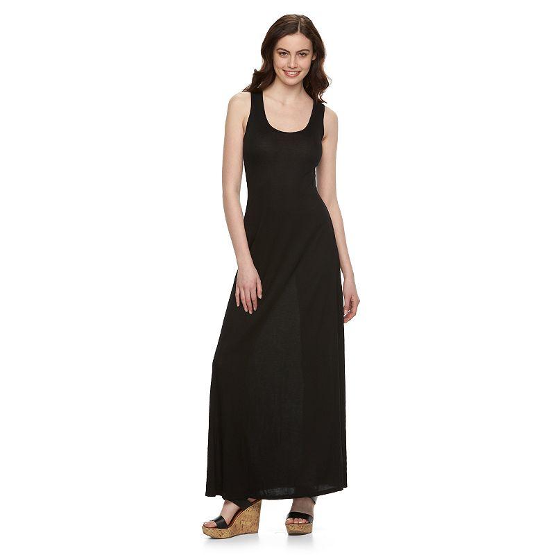 Juniors' Pink Republic Knit Maxi Dress