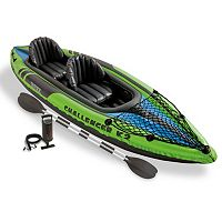 Intex Recreation Inflatable Challenger K2 Kayak & Paddle Set